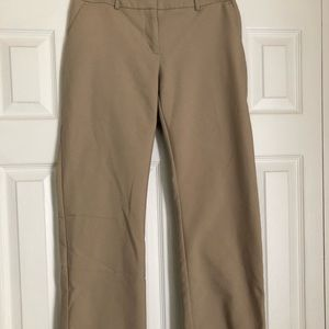 Khaki Bootcut Dress Pants